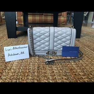 Rebecca Minkoff Gray Quilted Love Crossbody
